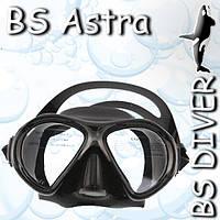 Маска BS DIVER Astra чёрный силикон, двустёкольная