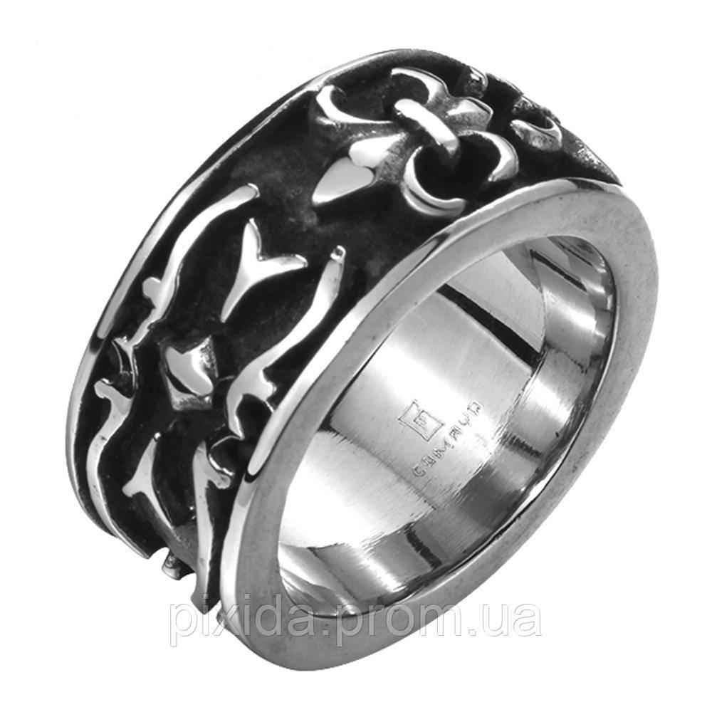 Кольцо нержавеющая сталь Лилия Капетингов