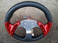 Руль спортивный №504 (красный) с переходником на лодку.