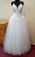 Пышное белое свадебное платье, размер 42-46
