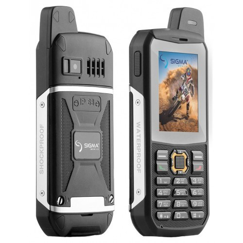 "Телефон Sigma mobile X-treme 3SIM Black, 1.3Мп, 3sim, экран 2.4"" IPS, IP68, 3000mAh, GSM, CDMA"
