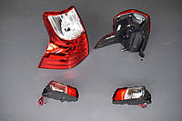 Задние фонари светодиодные и туманки Toyota Land Cruiser Prado 150 в стиле Lexus GX красно-белые