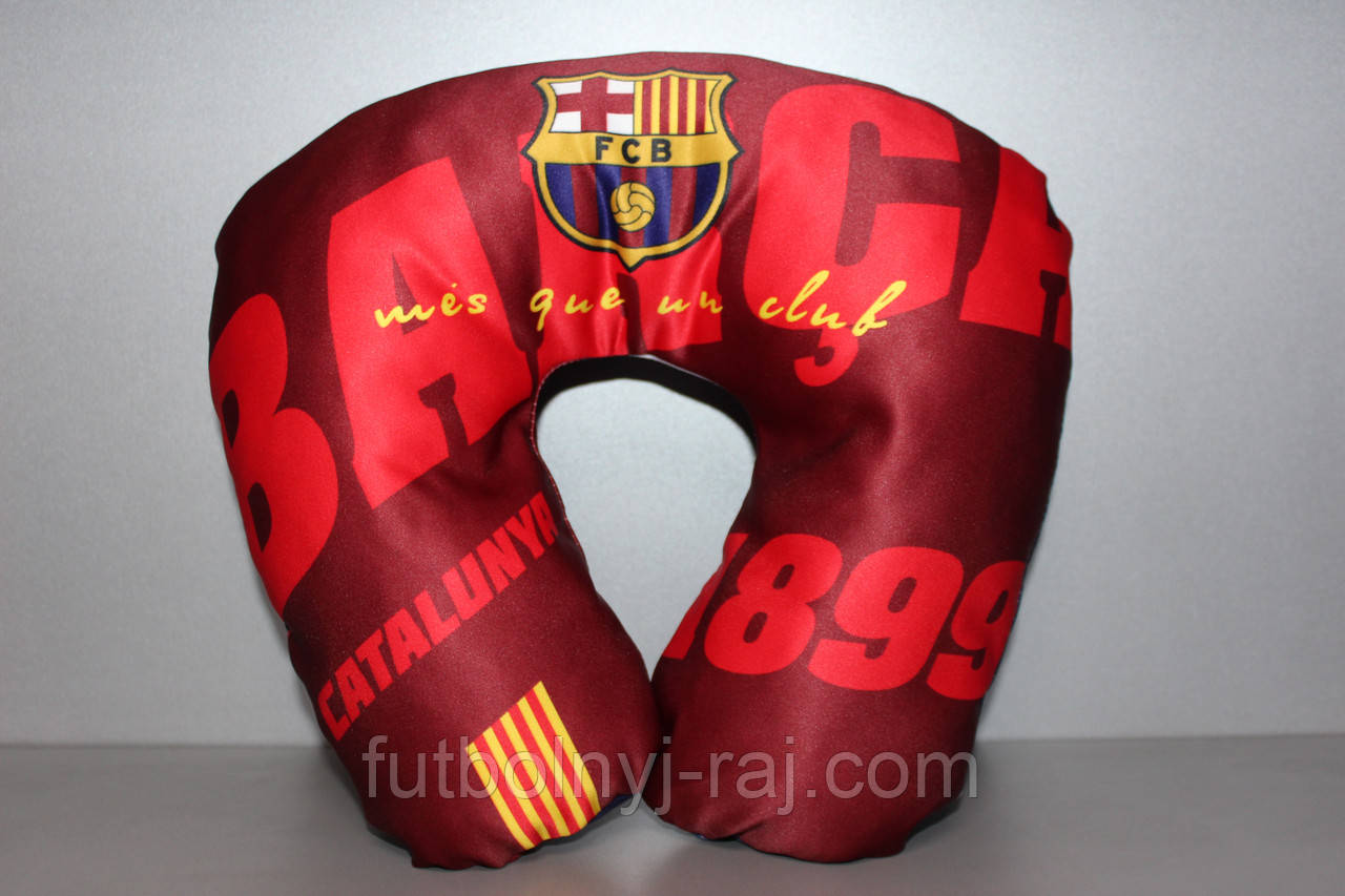 Подушка 35 х 30 см с символикой ФК Барселона, фото 1