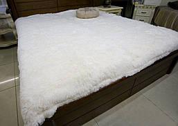 Плед травка белый