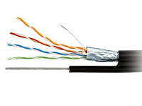 """Кабель компьютерный """"витая пара"""" """"Omega"""" FTP (PEM) Cat.5e 4x2x(0,48CCA), наружный c тросом, 500м"""