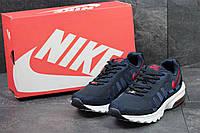 Кроссовки мужские Nike Air Max (синие с красным), ТОП-реплика , фото 1