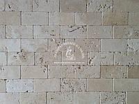 """Натуральный камень Травертин  """"Окатанный, бежевый"""" 7,5х15см."""
