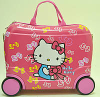 Чемодан детский на 4 колесиках Hello Kitty 40*28*19 7548-KT (каркас)