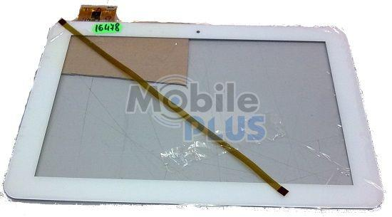 Сенсорный экран (тачскрин) для планшета 10,1 дюймов Freelander PD90 (Model: WJ-DR10010) White