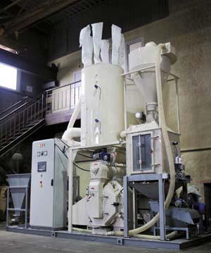 Линия гранулирования древесины. Потребляемая мощность 210.0 кВт