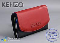 Кошелек женский кожаный красно-черный KENZO KE5531 EA