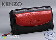 Кошелек женский кожаный красно-черный KENZO KE5539 EA