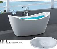 Отдельностоящая акриловая ванна Atlantis C-3002, 1700х770х830 мм