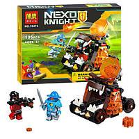 "Конструктор Bela 10474 Nexo Knights (аналог Лего 70311) ""Безумная катапульта"" 105 деталей, фото 1"