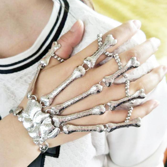 Оригинальное украшение: перчатка скелет руки! Браслет из костей!