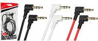 Аудио кабель AUX Jack 3.5mm боковой 1.5м