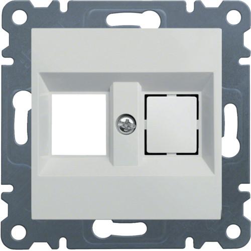 Лицевая панель двойная для RJ12/RJ45 Hager Lumina Белый