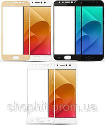 Защитное стекло для ASUS Zenfone 4 ZE554KL цветное Full Screen