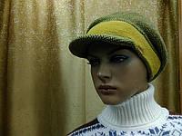 Зимняя женская кепка Simona Kamea, шерстяная, золотой цвет, фото 1