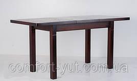 Стол Классик Люкс орех 120(+40)*75 обеденный раскладной деревянный