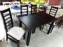 Стол Классик Люкс ваниль120(+40)*75 обеденный раскладной деревянный, фото 2