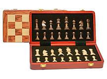 Дерев'яні шахи в скриньці
