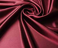 Атласная ткань бордовая, фото 1