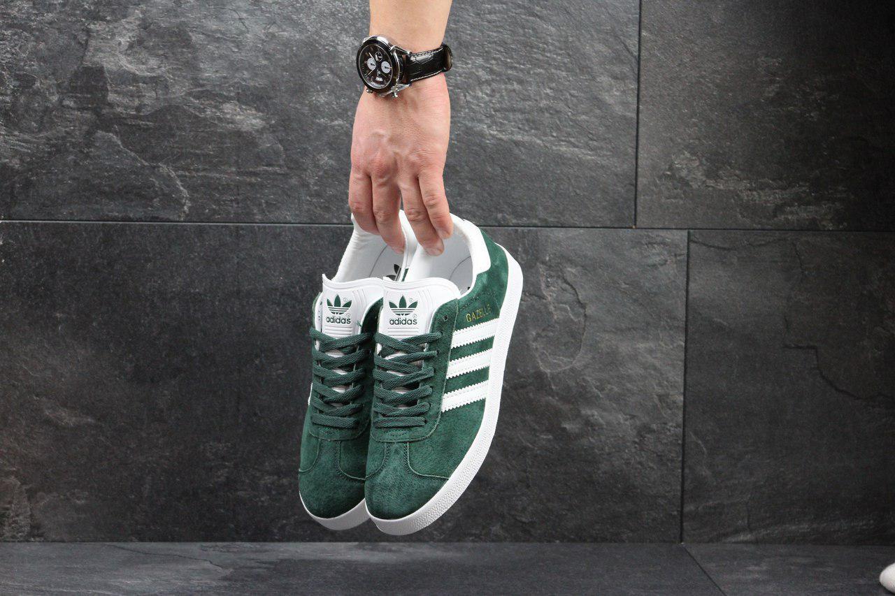 feeb799f Кроссовки мужские Adidas Gazelle (зеленые), ТОП-реплика: продажа ...