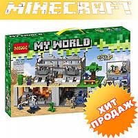 """Конструктор Decool 820 Minecraft \ Майнкрафт (аналог Lego) """"Нападение на крепость"""", 819 дет."""