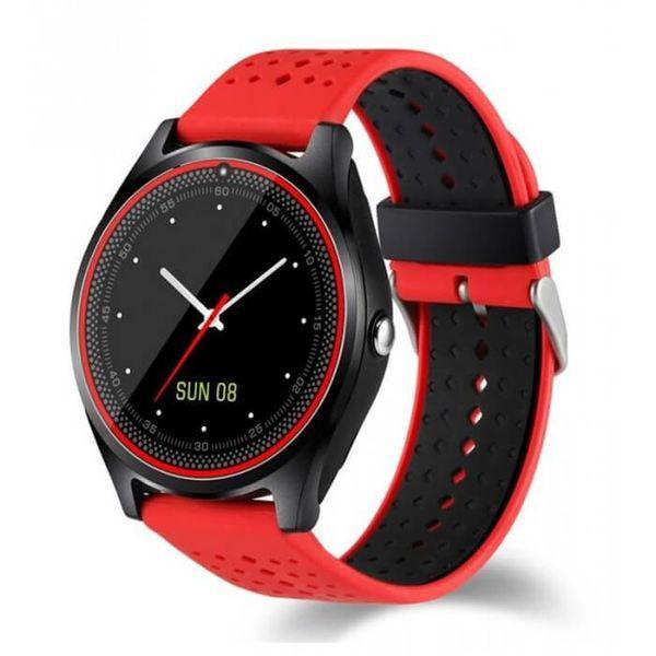 Смарт Часы V9 красные с GPS водонепроницаемые Поддержка sim-карт -  Интернет-магазин