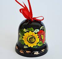 Украинский сувенир Колокольчик деревянный Петриковская роспись Осень