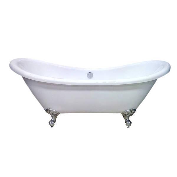 Акриловая ванна Atlantis C-3140 (белая) c переливом 1760х750х750 мм
