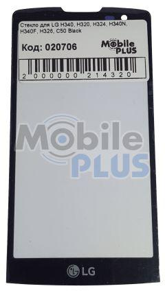 Стекло для переклейки дисплея LG H340, H320, H324, H340N, H340F, H326, C50 Black