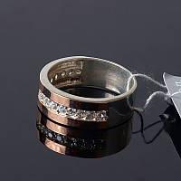Серебряное кольцо с золотом Ретро , фото 1
