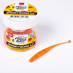 """Слаг силікон. SPANKY WORM LJ Pro Series 3,2 """"/ 036 *10"""