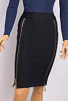 Юбка женская ANOTHER F&P H-3523 BLACK GOLD ZAMOK