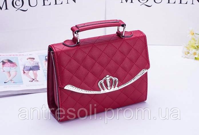 Небольшая сумка женская красная код 3-318