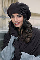 Juka зимний женский берет  Kamea, шерстяная, черный цвет