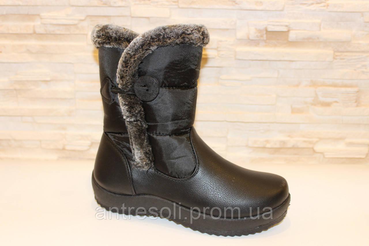 Сапоги дутики женские зимние черные С546 р 39 39