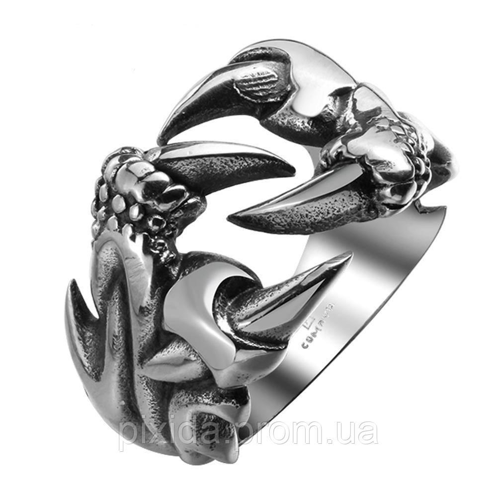 Перстень нержавеющая сталь Когти дракона