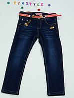 Стильные утепленные джинсы на флисе на девочку 122 см