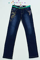 Утепленные  джинсы на флисе на девочку 164 см