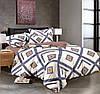 Полуторный комплект постельного белья 150*220 сатин (8981) TM KRISPOL Україна