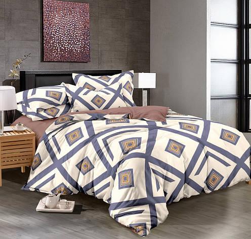 Полуторный комплект постельного белья 150*220 сатин (8981) TM KRISPOL Україна, фото 2