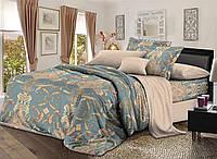Двуспальный комплект постельного белья 180*220 сатин (9013) TM KRISPOL Украина