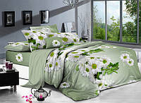 Двуспальный комплект постельного белья евро 200*220 сатин (9021) TM KRISPOL Украина