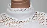 Кофточка ажурная женская декорированная пухом, белая, фото 4