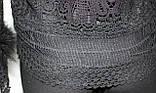 Кофточка ажурная женская декорированная пухом, черная, фото 8