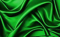 Атласная ткань зеленая