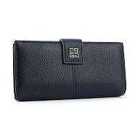 Синий кошелек Givenchy кожаный на кнопке, фото 1